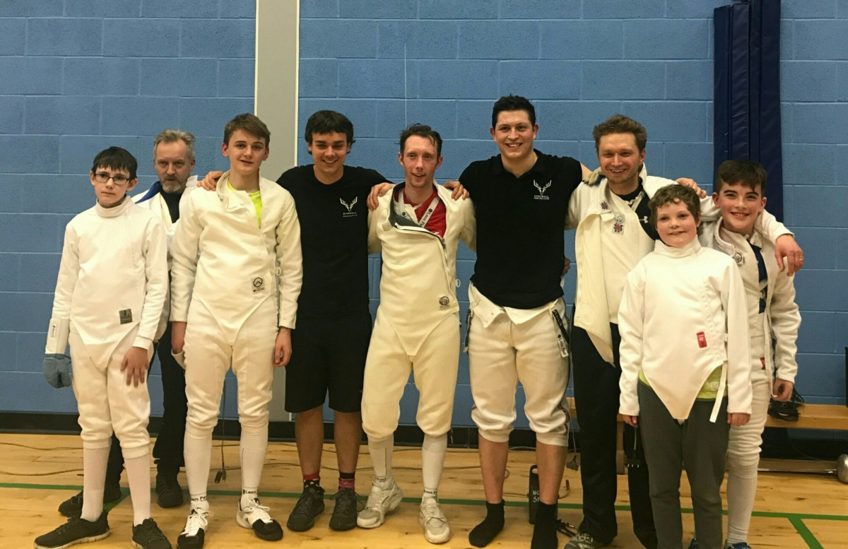 Keith Cook Visits Dingwall Fencing Dingwall Fencing Club